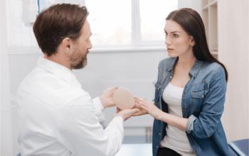 doctor explaining implants