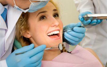 woman in dental procedure